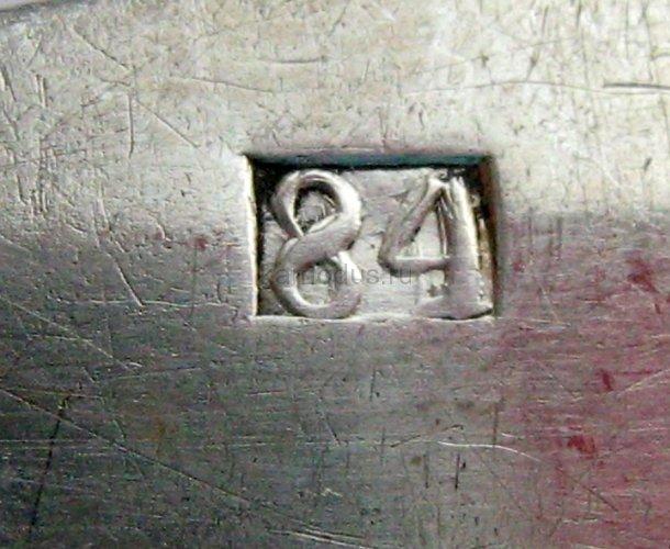 Ложка серебряная сгравировкой, проба 84 - музей ложки