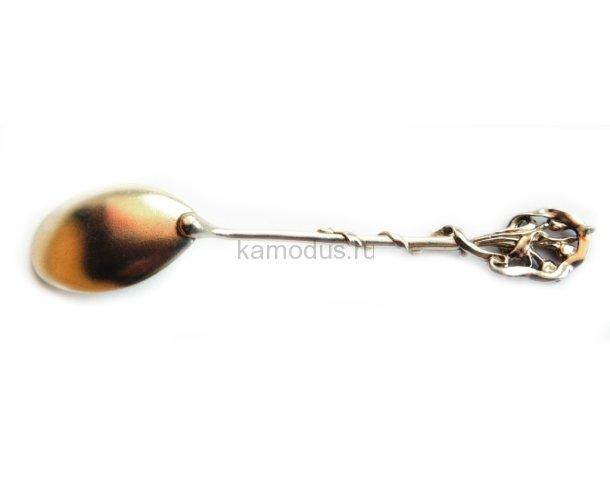 Ложка серебряная - Букет тюльпанов