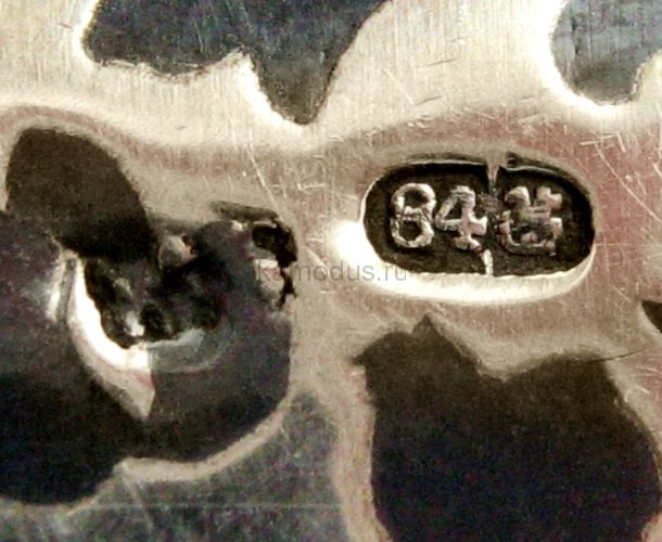 Серебряная ложка с чернением КАВКАЗЪ - музей ложки