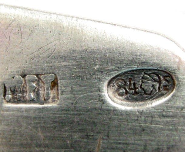 Ложка серебряная МЕТ, проба 84