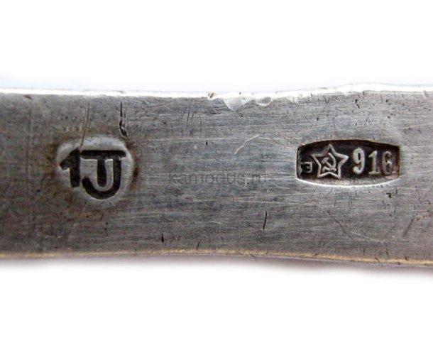 Ложка Мишка - серебро 916 пробы