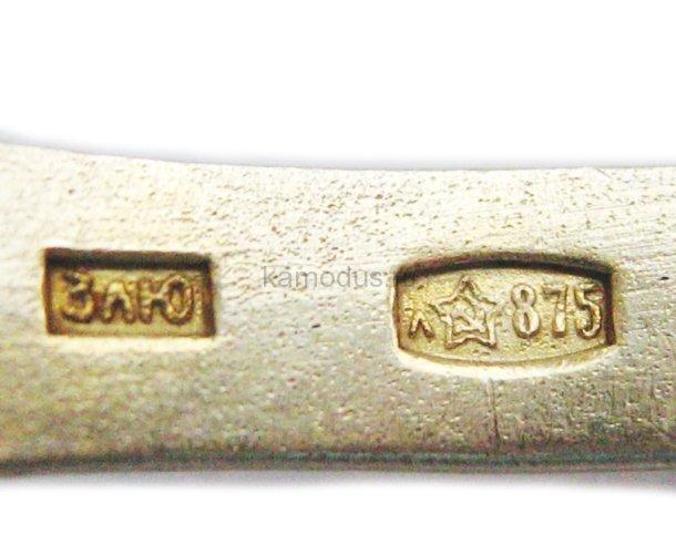 Позолоченная ложка с эмалью