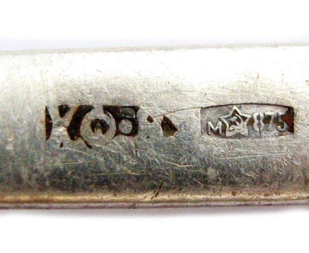Серебряная ложка с чернением