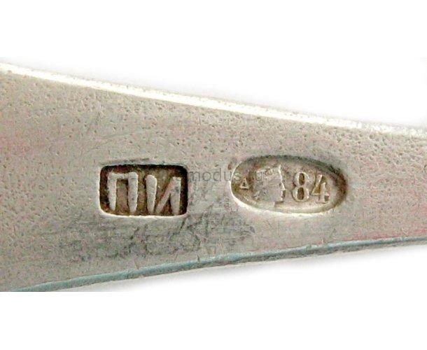 Серебреные ложки неизвестный мастер 1848 год