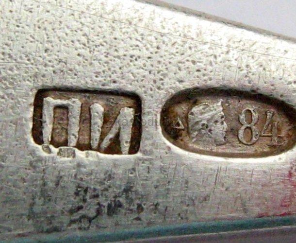 Три серебреные ложки 84 пробы