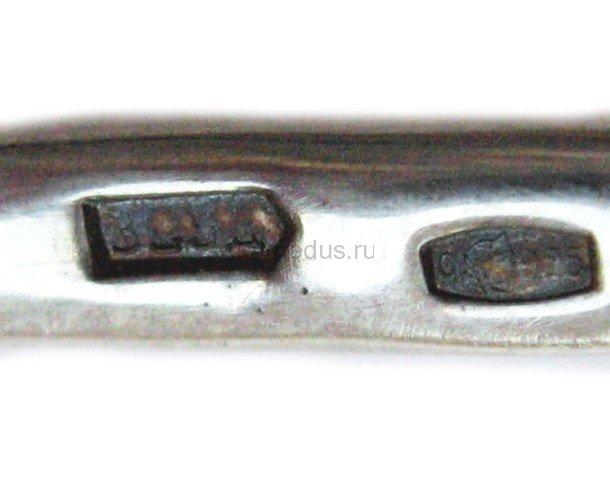 Винтовая серебряная ложка 925 пробы